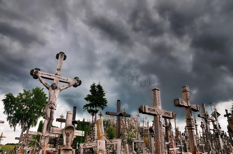 Hill of the Crosses, Lithuania royalty free stock photos