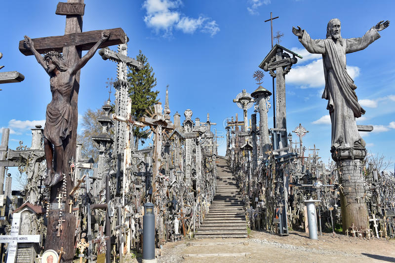 Hill of the Crosses, Lithuania. The hill of the Crosses (Kryžių kalnas) in Lithuania, one of the most important pilgrimage sights of the region and a royalty free stock image