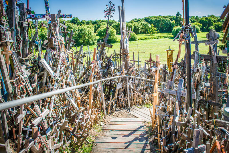 Hill of the Crosses, Lithuania royalty free stock image