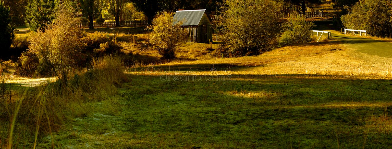 Hill End nsw. Well-preserved, former Bathurst gold-mining town is set in an isolated valley surrounded by mountains and gorges. The rugged scenery of its Country royalty free stock photography