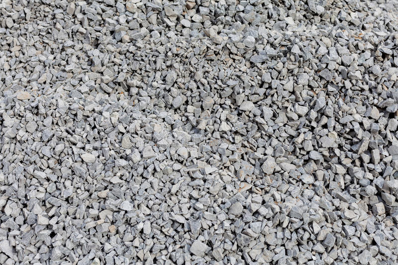 Hill gray gravel closeup. Textural background royalty free stock photos