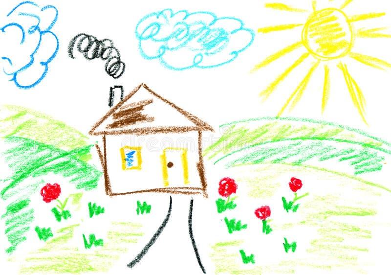 hill house royalty ilustracja
