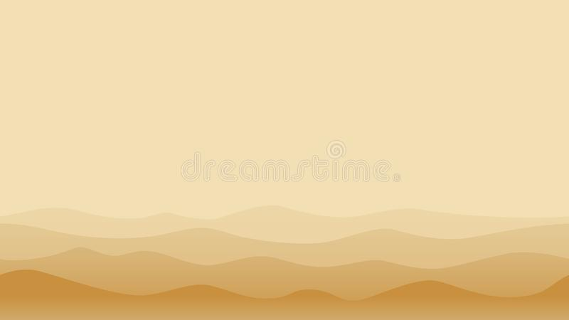 Hill landscape with brown sands royalty free illustration