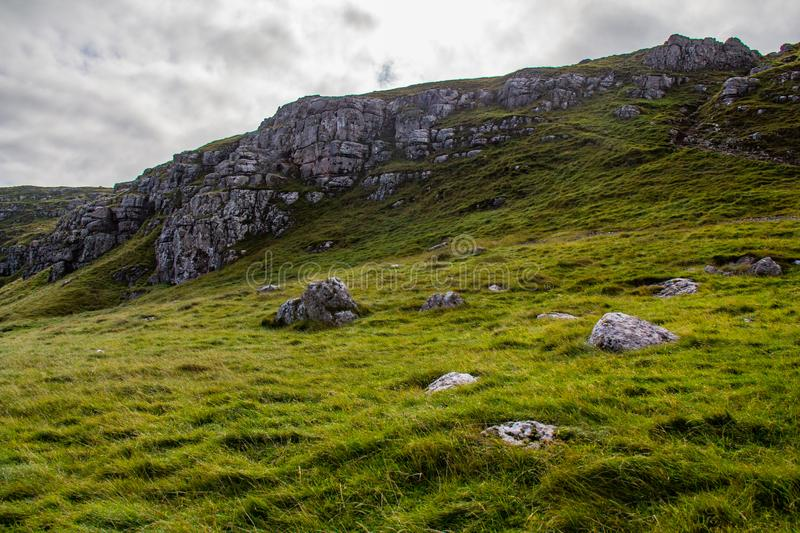 A Hill in Llandudno royalty free stock image