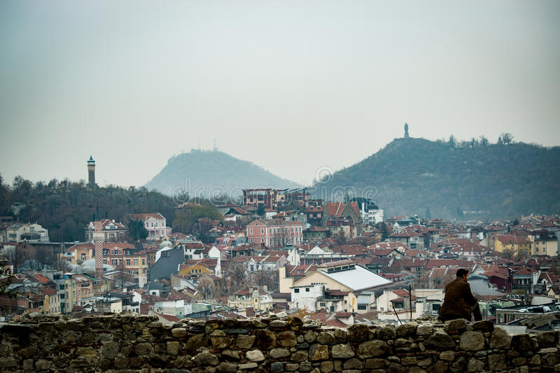 Hill lonely. Plovdiv, Bulgaria stock photos