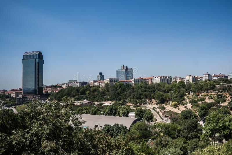 Hill Macka στη Ιστανμπούλ, Τουρκία στοκ φωτογραφία με δικαίωμα ελεύθερης χρήσης