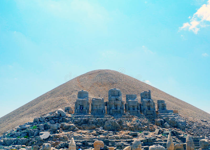 The hill on the Mount Nemrut. royalty free stock images