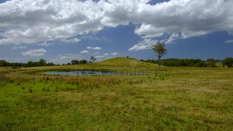 Hill near Morisset, NSW, Australia royalty free stock photos