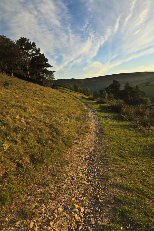 Download Hill Path stock image. Image of morning, britain, derbyshire - 16224345