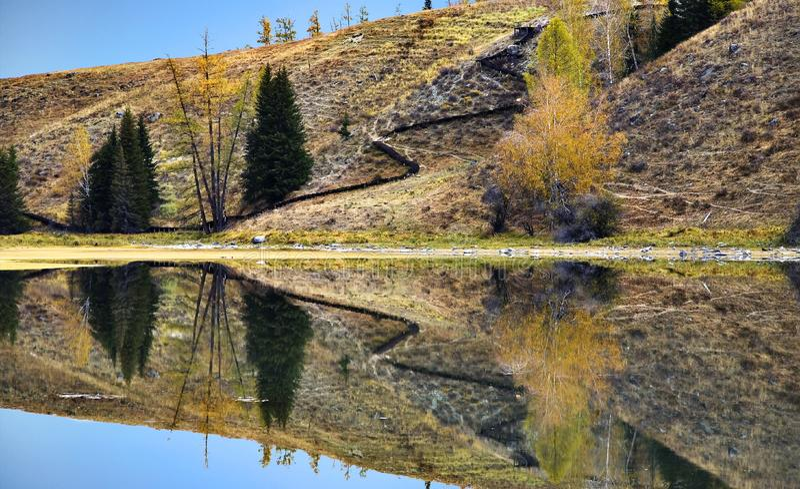 Download Hill reflection stock image. Image of landscape, summer - 8543705