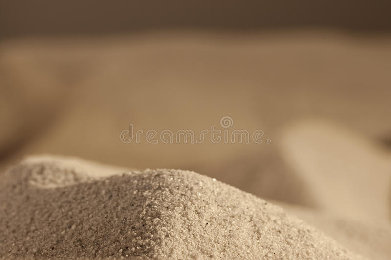 Hill from sea sand royalty free stock photography