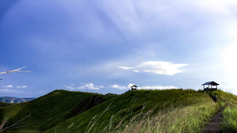 The Hill Of Telletubies Part 2. This is a hill in the Sentani Papua Indonesia. The place you can rest for awhile royalty free stock image