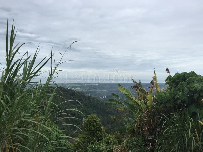 Hill side View in Penang, Malaysia royalty free stock photos