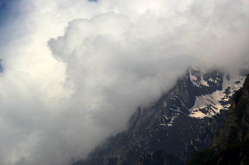 Hill station of glacier Uttarakhand in india. royalty free stock photography