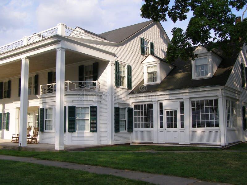 Hill-Stead House. Colonial Revival farmhouse at the Hill-Stead estate, Farmington, CT royalty free stock photos