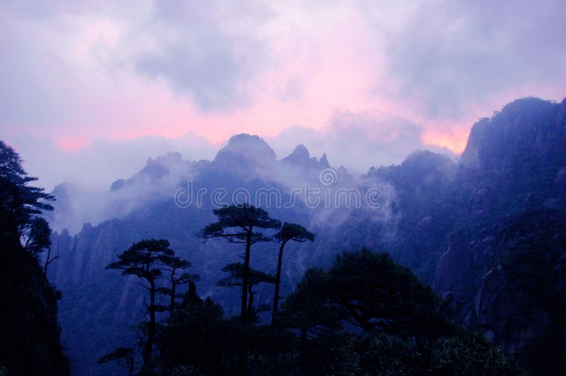 hill after sunset royalty free stock image