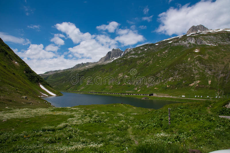 Hill in Switzerland stock photography