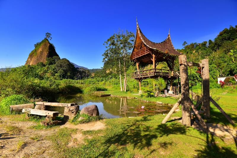 Hill Takuruang οι περισσότερες όμορφες θέσεις που επισκέπτονται στην Ινδονησία στοκ εικόνα