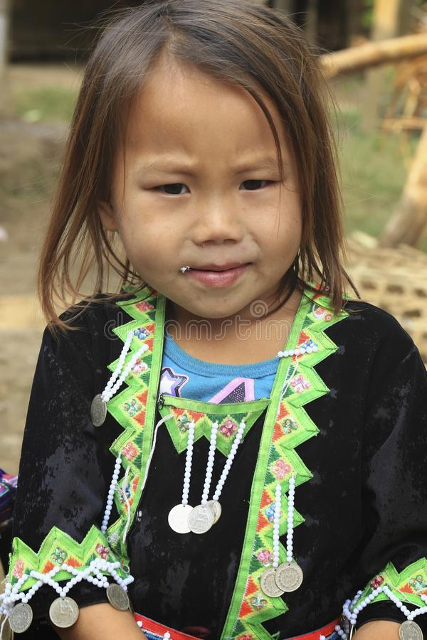 Hill tribe girl stock photos