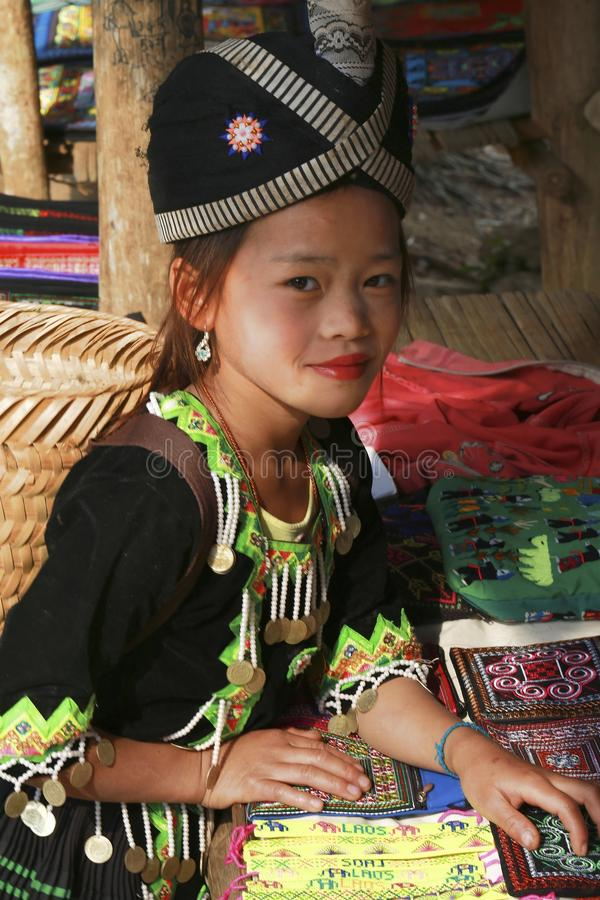 Hill tribe girl stock photography