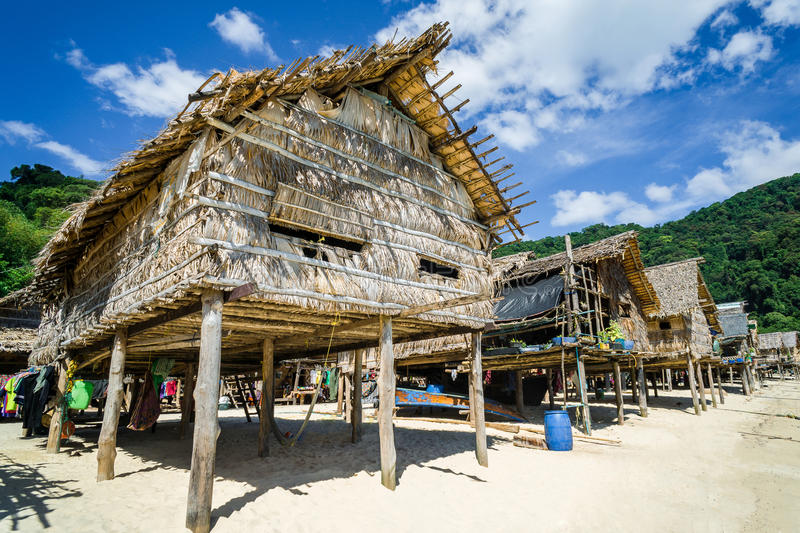 Hill tribe village With beautiful views. Thailand Attractions royalty free stock photos