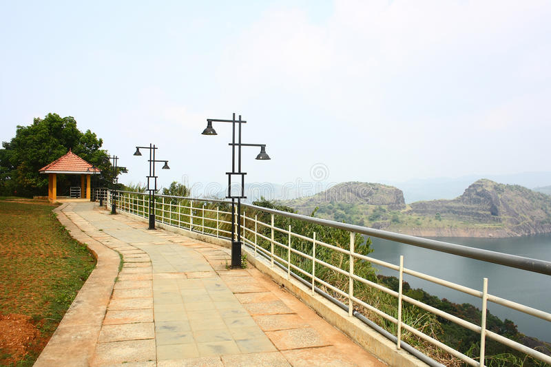 Download Hill View Park Overlooking Largest Arch Dam In Asia Stock Photo - Image: 28841620