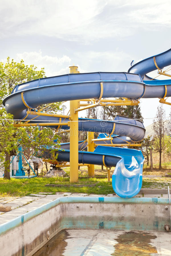 Download A hill is in Water park stock image. Image of descent - 39510543