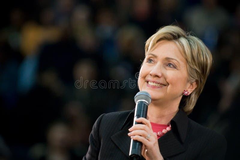 Hillary Clinton - 4 sonrientes horizontales fotografía de archivo libre de regalías