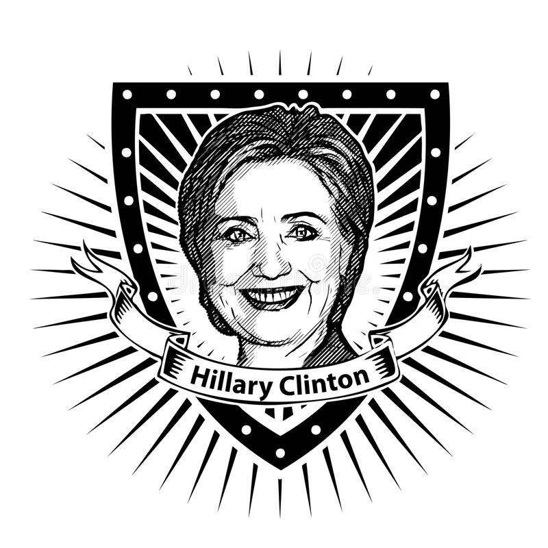 Hillary clinton, royalty ilustracja