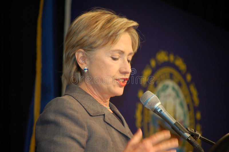 Hillary Clinton foto de archivo