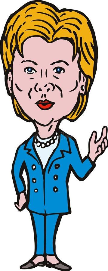 Hillary Clinton stock de ilustración