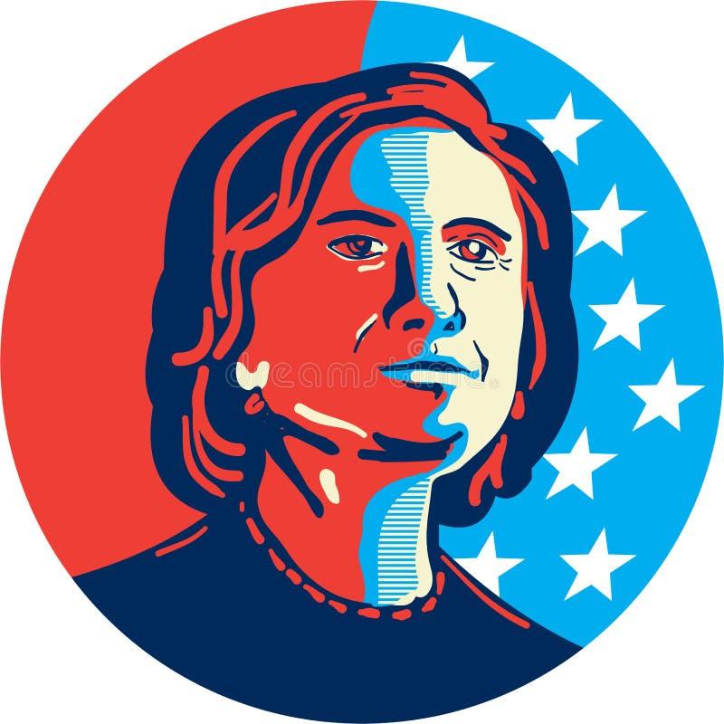 Hillary Clinton amerykanina wybory royalty ilustracja