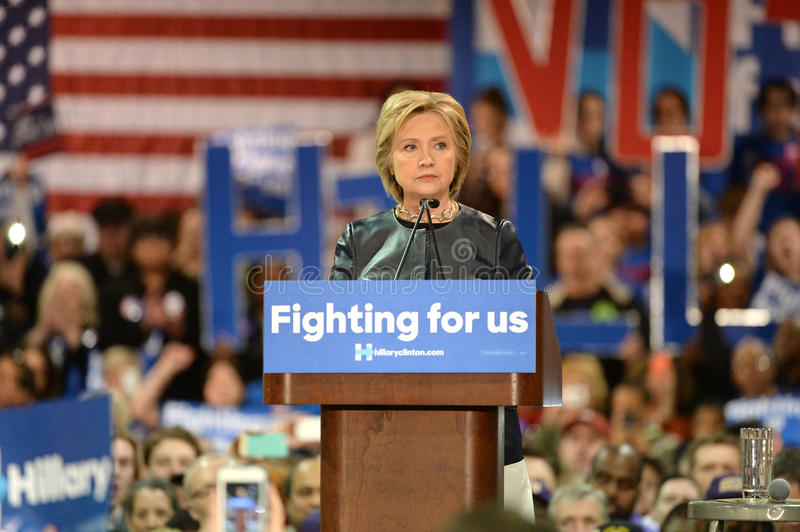 Hillary Clinton Campaigns in St. Louis, Missouri, USA stock image