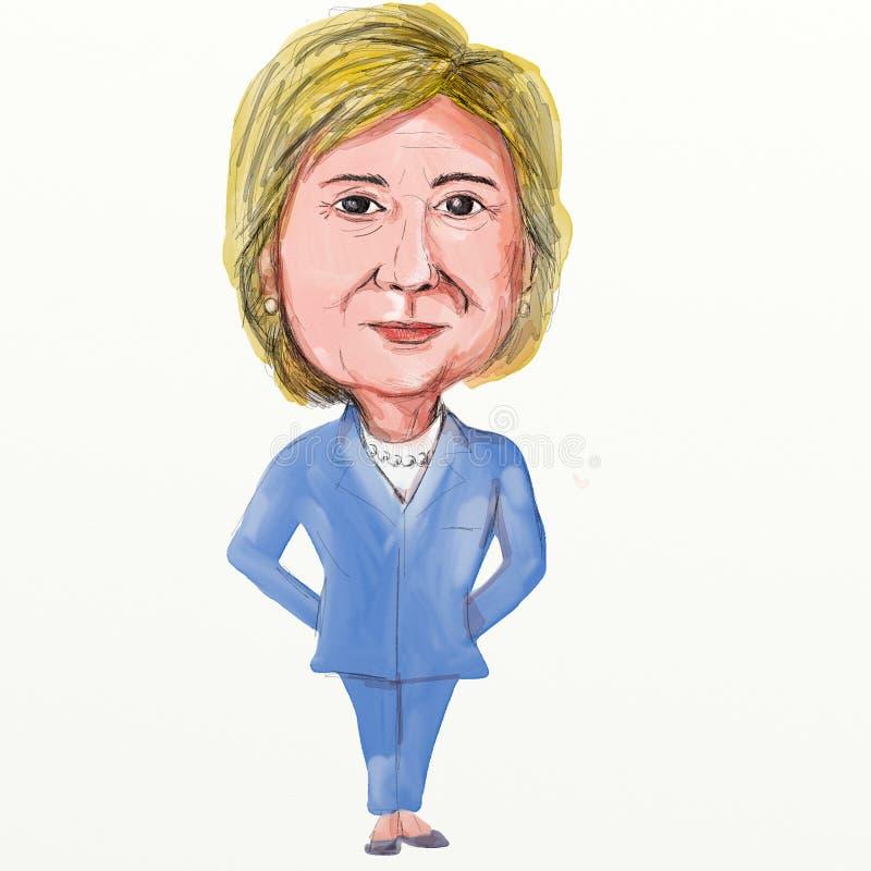 Hillary Clinton Caricature ilustración del vector