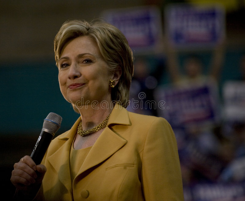 Hillary Clinton in Dallas royalty free stock images