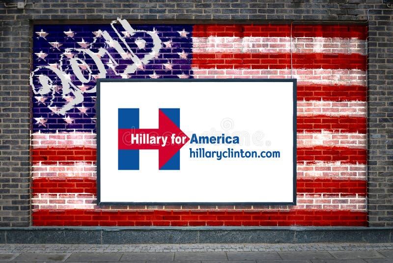 Hillary Clinton dla prezydenta ilustracja wektor