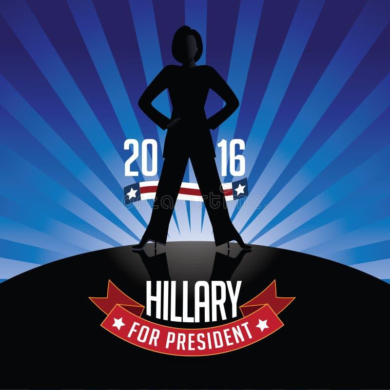 Hillary Clinton dla prezydenta wybuchu tła royalty ilustracja
