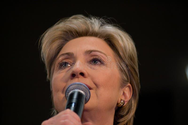 Hillary Clinton giving speech at TSU, Nashville royalty free stock photography