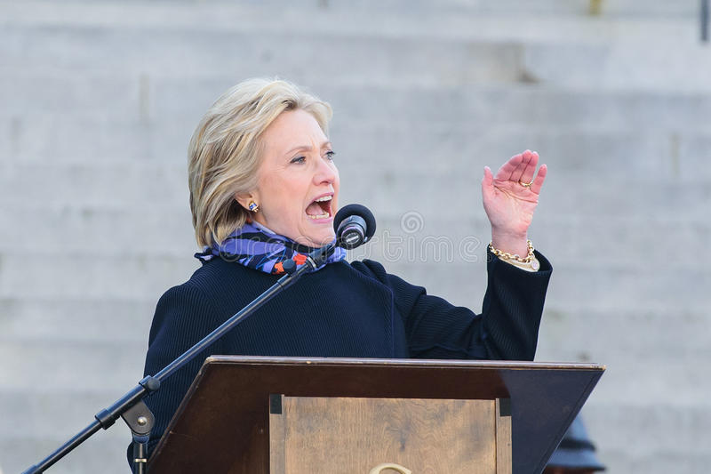 Hillary Clinton - MLKDAY-Verzameling stock foto