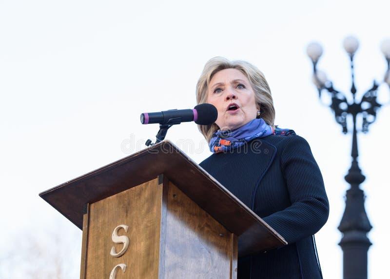 Hillary Clinton - MLKDAY-Verzameling royalty-vrije stock foto