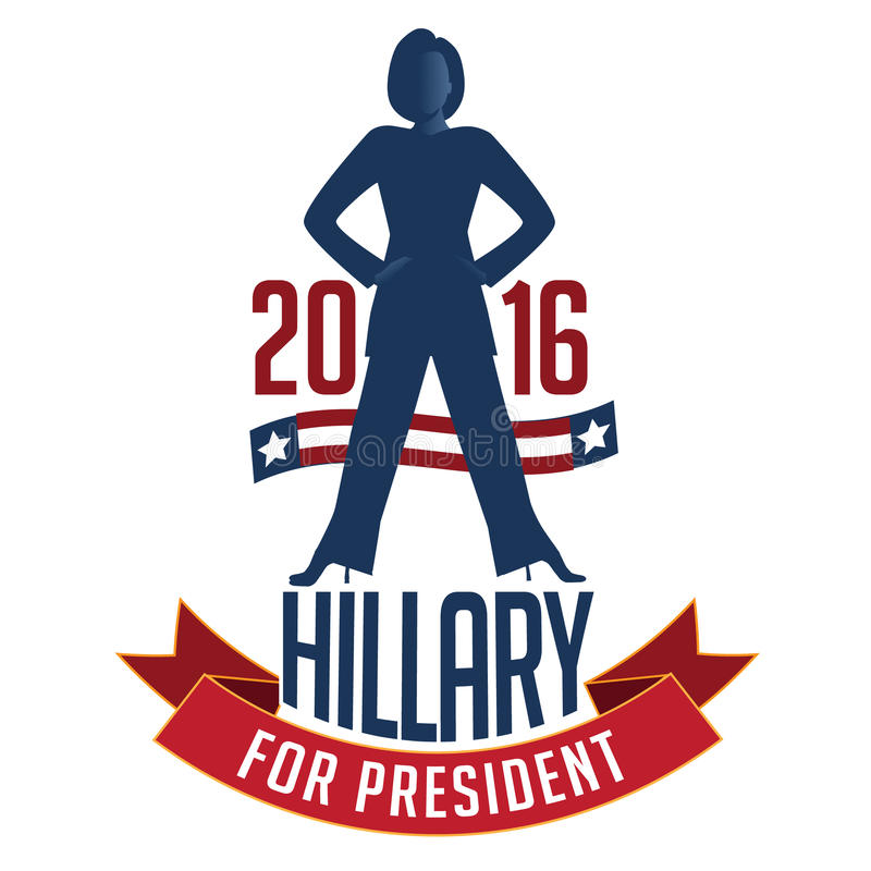 Hillary Clinton para el presidente ilustración del vector