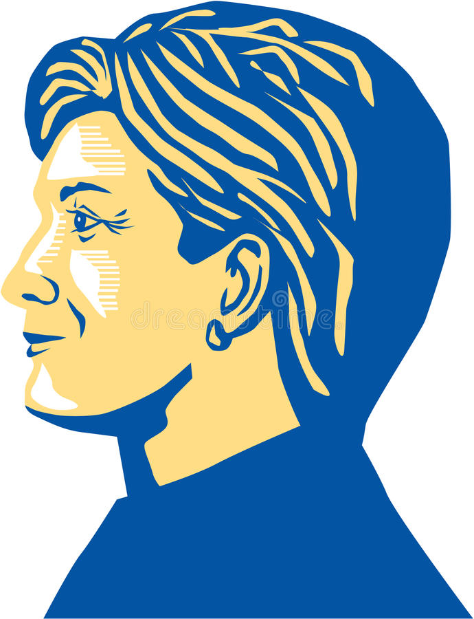 Hillary Clinton Presidente 2016 ilustración del vector