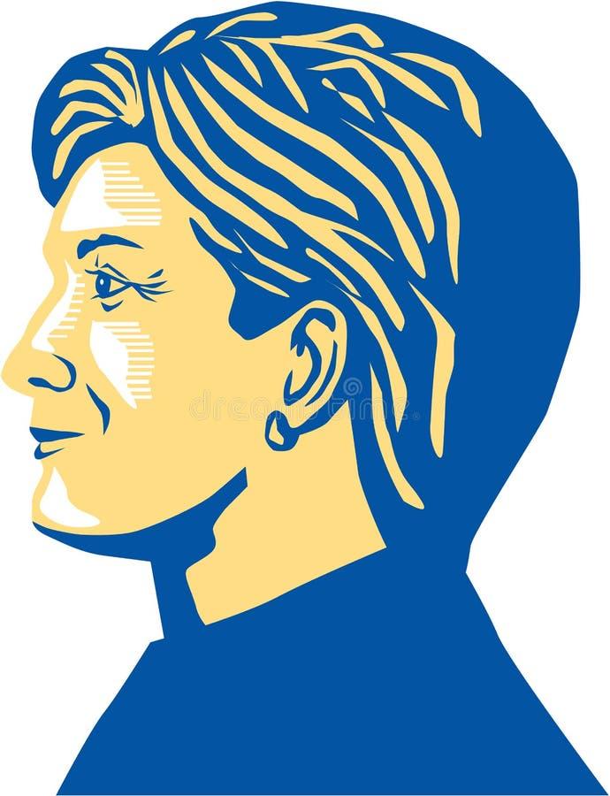 Hillary Clinton prezydent 2016 ilustracja wektor