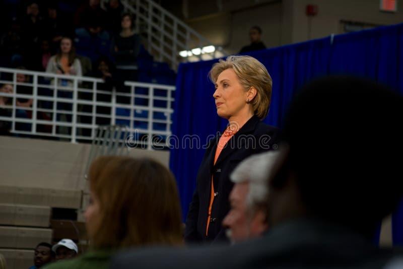 Hillary Clinton que dá o discurso em TSU, Nashville fotos de stock royalty free