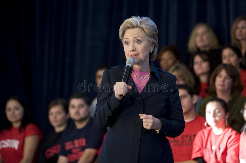 Hillary Clinton Rally royalty free stock images
