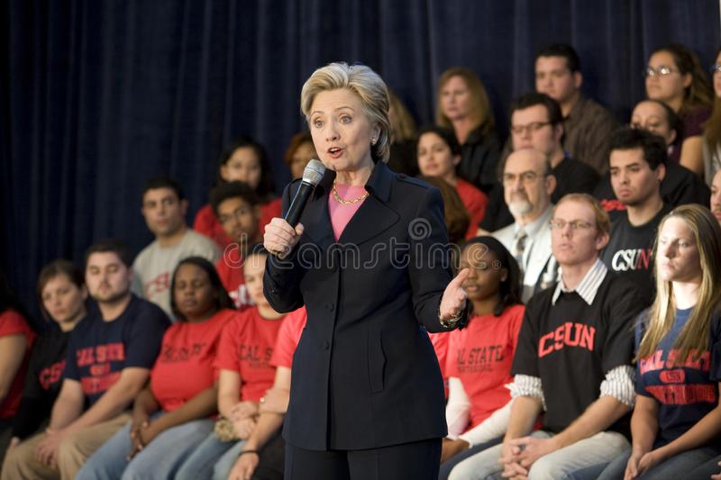 Hillary Clinton Rally stock images