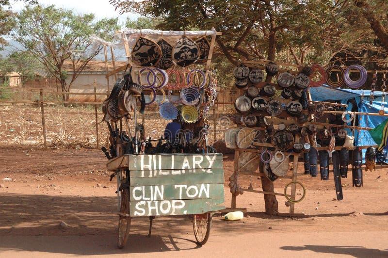 Hillary Clinton sklep Tanzania Tom Wurl zdjęcie royalty free