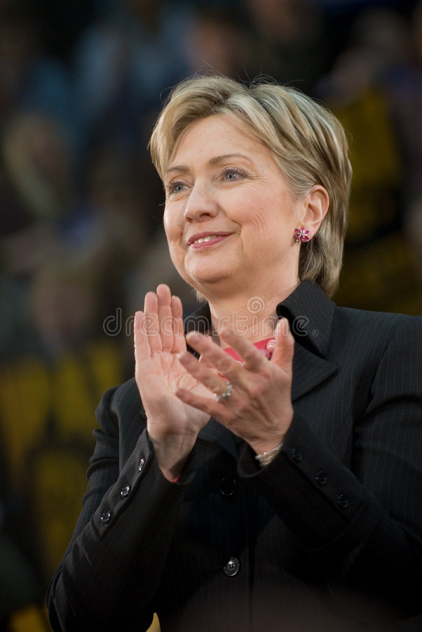 Hillary Clinton - Vertical Clapping 2 royalty free stock photography