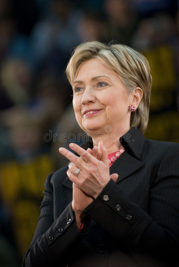 Hillary Clinton - Vertical Clapping stock photography