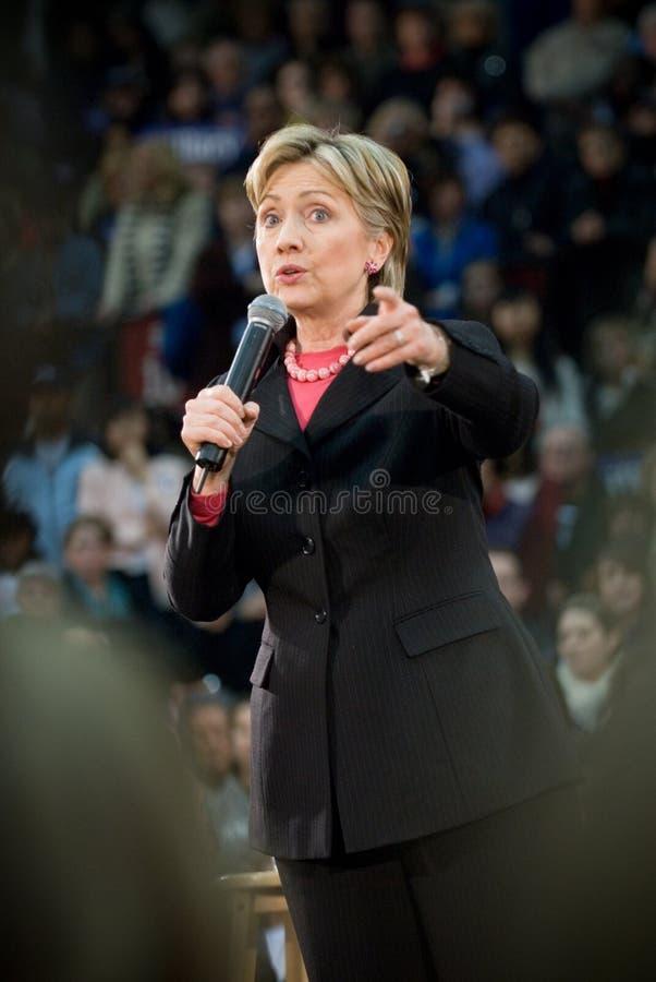 Hillary Clinton - Vertical Pointing. 03/11/08 - Philadelphia, PA - Hillary Clinton - Presidential Hopeful, Senator Hillary Rodham Clinton (D-NY), speaks to a stock photos